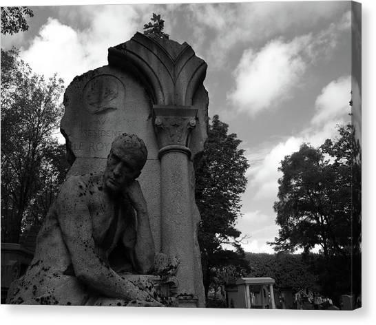Statue, Pondering Canvas Print