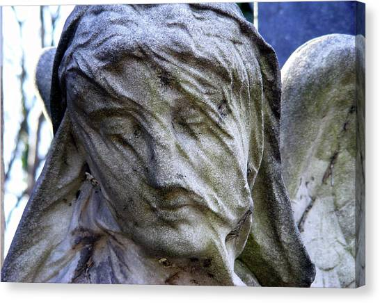 Statue, Thought Canvas Print
