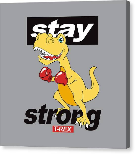 Stay Strong - Baby Room Nursery Art Poster Print Canvas Print