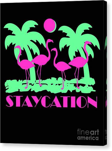 Canvas Print featuring the digital art Staycation by Flippin Sweet Gear