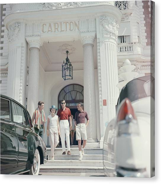 Staying At The Carlton Canvas Print