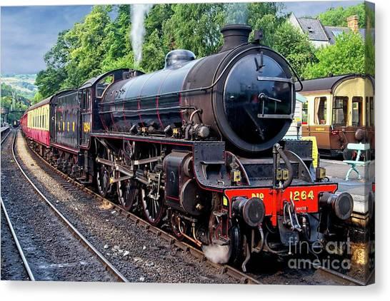 Steam Locomotive 1264 Nymr Canvas Print