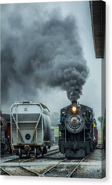 Trainspotting Canvas Print - Steaming Home by Enzwell Designs