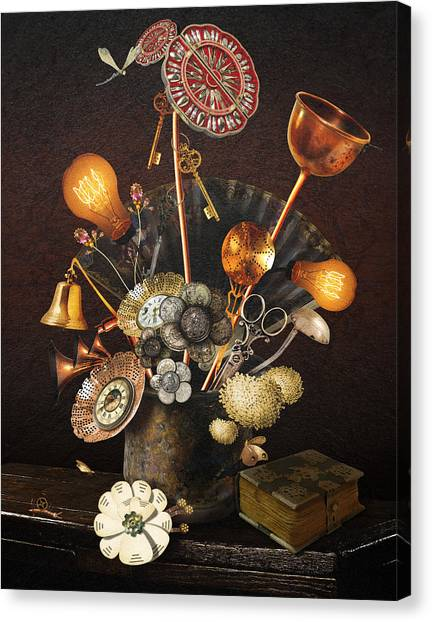 Steampunk Bouquet Canvas Print