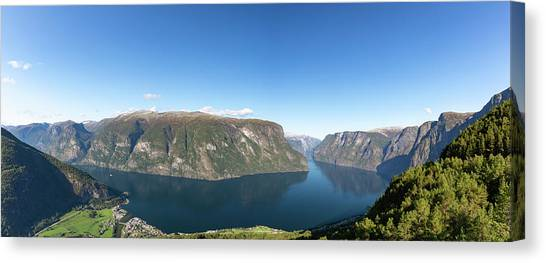 Canvas Print featuring the photograph Stegastein, Norway by Andreas Levi