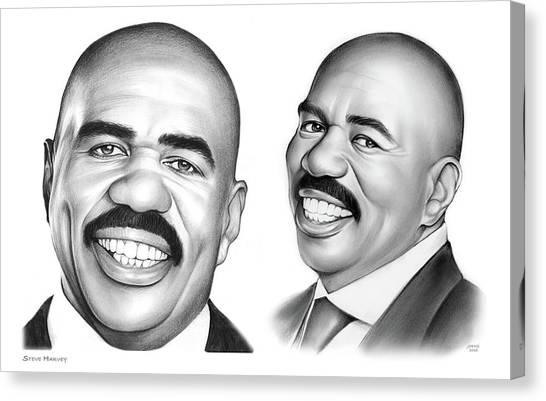 Personality Canvas Print - Steve Harvey 734 by Greg Joens