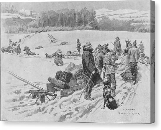 Stikine River Crossing Canvas Print by Hulton Archive