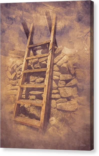 Stile Below Binnian Canvas Print by Norma Slack