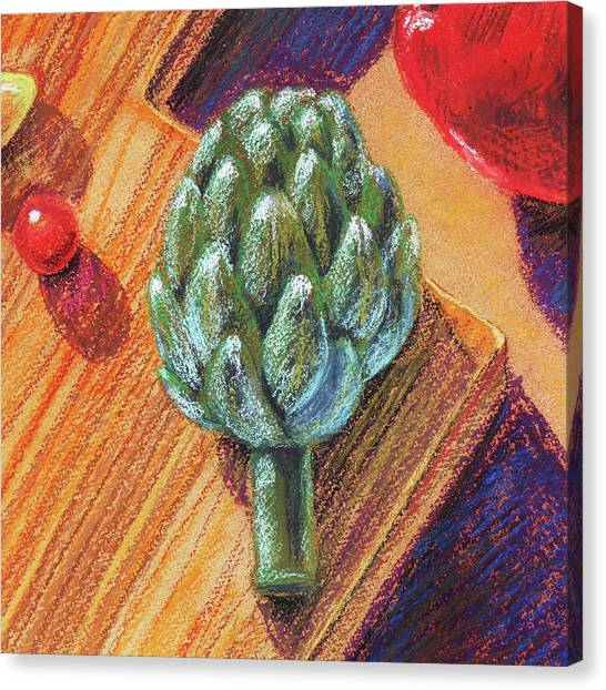 Artichoke Canvas Print - Still Life With Artichoke  by Irina Sztukowski