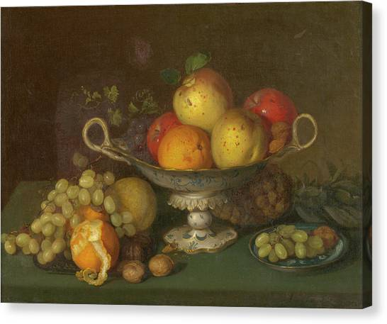 Still Life With Fruit, 1844 Canvas Print