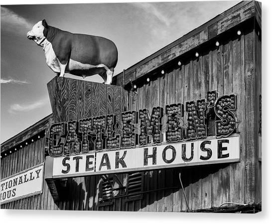 Ribeye Canvas Print - Stockyard Steaks by Stephen Stookey
