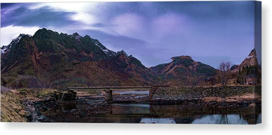 Stone Bridge On Lofoten Islands  Canvas Print