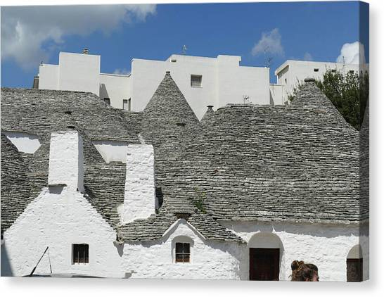 Stone Coned Rooves Of Trulli Houses Canvas Print