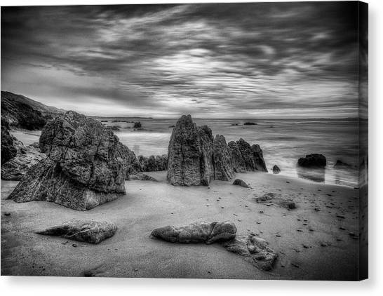 Canvas Print featuring the photograph Storm At Leo Carrillo by John Rodrigues