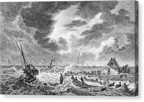 Storm At Sea Canvas Print by Hulton Archive