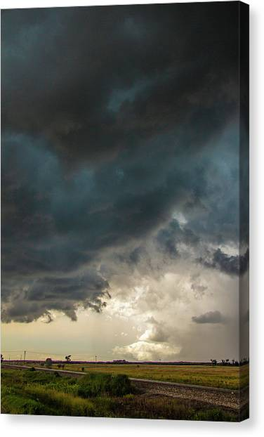 Canvas Print featuring the photograph Storm Chasin In Nader Alley 012 by NebraskaSC