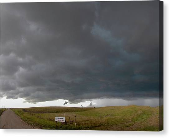 Canvas Print featuring the photograph Storm Chasin In Nader Alley 016 by NebraskaSC