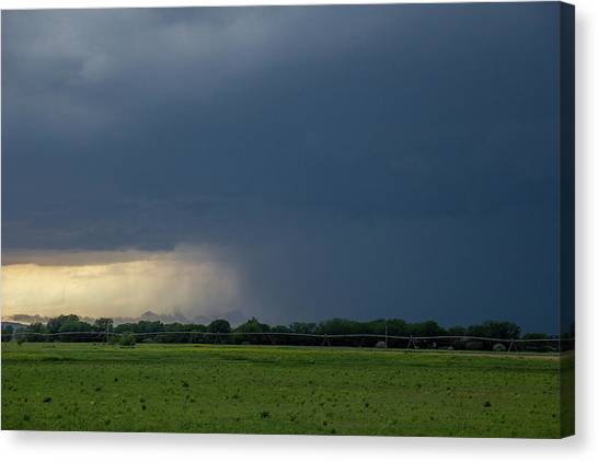 Canvas Print featuring the photograph Storm Chasing West South Central Nebraska 002 by Dale Kaminski