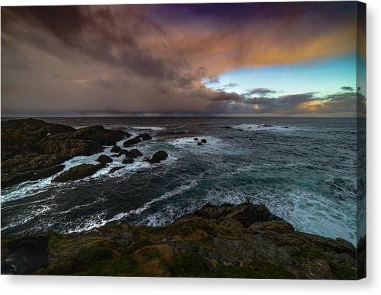 Storm Coastline Canvas Print