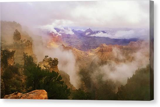 Storm In The Canyon Canvas Print