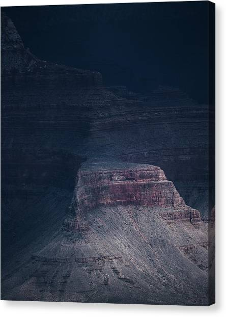 Storm In The Grand Canyon Canvas Print