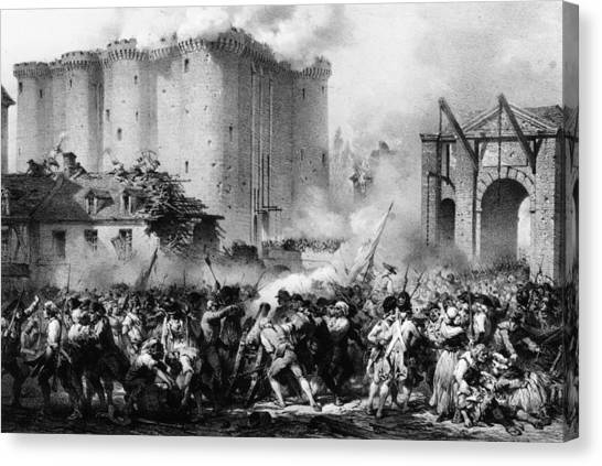 Storming The Bastille Canvas Print by Hulton Archive