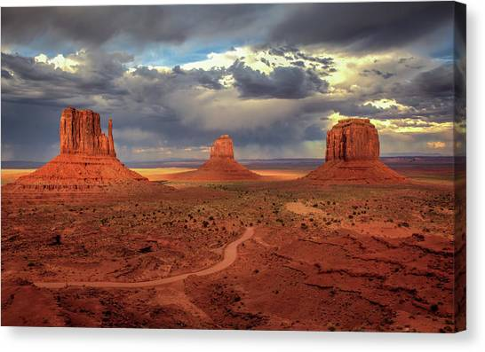 Stormy Background Canvas Print
