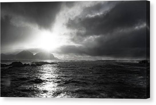 stormy coastline in northern Norway Canvas Print