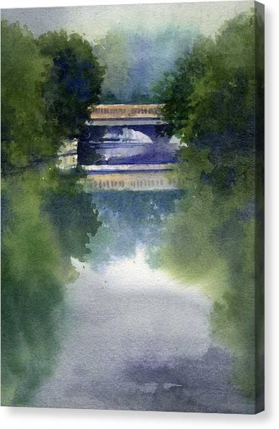 Stormy Day On Bridge Road Canvas Print