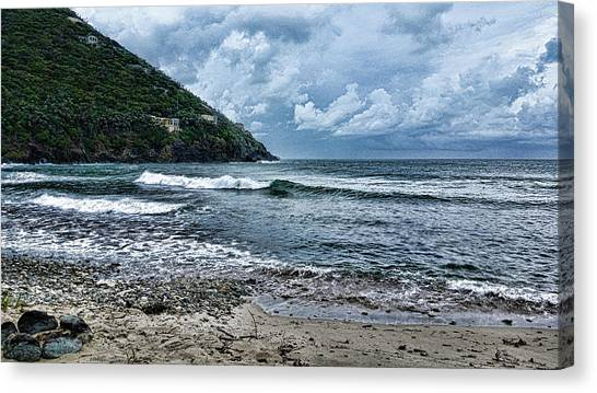 Stormy Shores Canvas Print