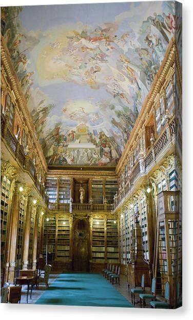 Strahov Library, Prague, Czech Republic Canvas Print by Gavin Gough