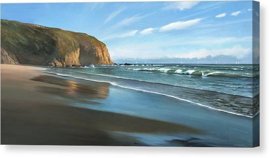 Strands Beach Dana Point Oil Painting Canvas Print