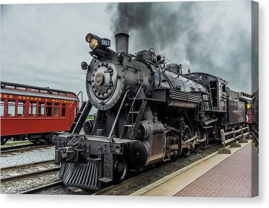 Trainspotting Canvas Print - Strasburg 90 by Enzwell Designs