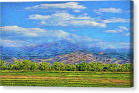 Canvas Print featuring the digital art Streaming Meadow Day by Joel Bruce Wallach