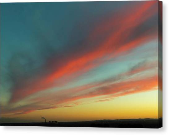 Streaming Sunset Canvas Print