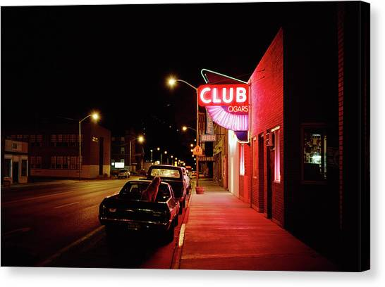 Street At Night Canvas Print