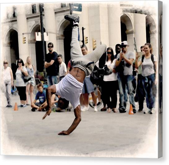 Street Dance. New York City. Canvas Print