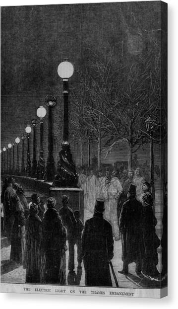Street Lights Canvas Print by Hulton Archive