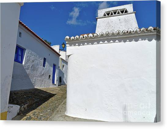 Streets Of A Medieval Castle. Alentejo Canvas Print