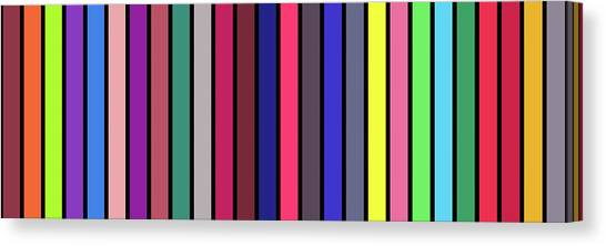 Stripe Alphabet Canvas Print