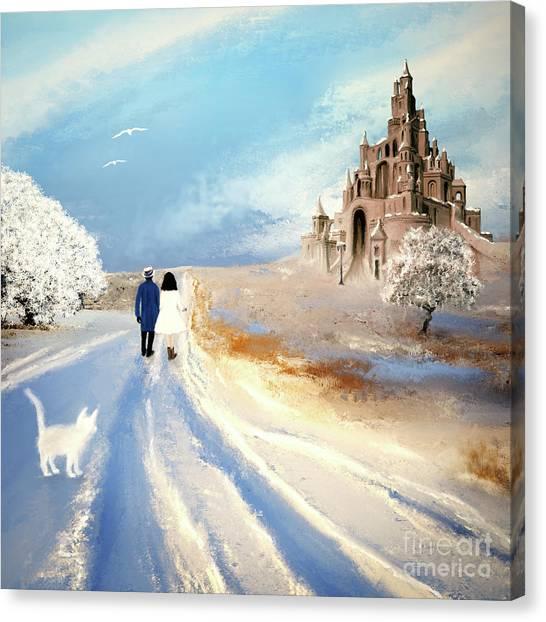 Stroll Through Winter Fantasy Land Canvas Print