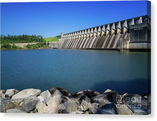 Strom Thurmond Dam - Clarks Hill Lake Ga Canvas Print