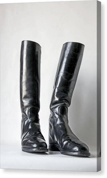 Studio. Riding Boots. Canvas Print