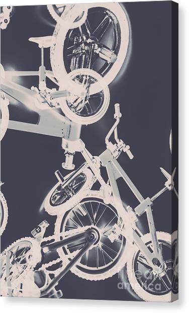 Black And White Art Canvas Print - Stunt Bike Trickery by Jorgo Photography - Wall Art Gallery