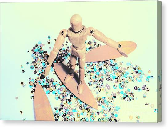 Surfboard Canvas Print - Stunt Surfer by Jorgo Photography - Wall Art Gallery