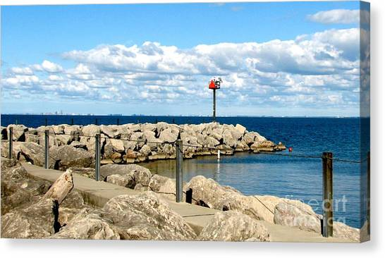 Canvas Print featuring the photograph Sturgeon Point Marina On Lake Erie by Rose Santuci-Sofranko