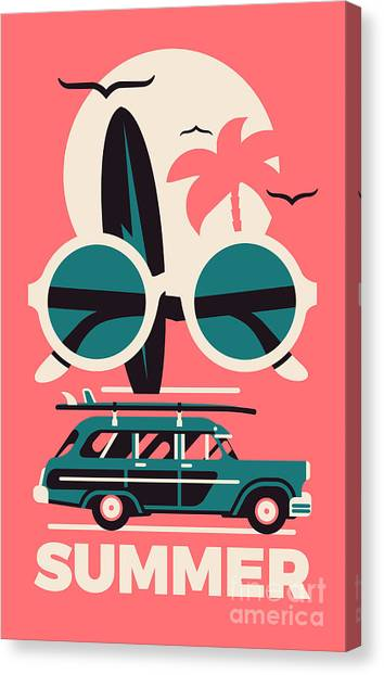 Seagull Canvas Print - Stylish Vector Concept Design On by Mascha Tace