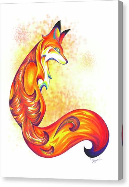 Stylized Fox I Canvas Print