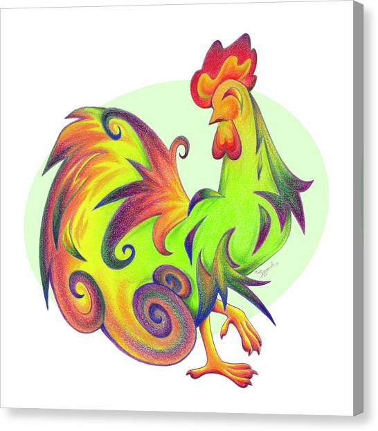 Stylized Rooster I Canvas Print