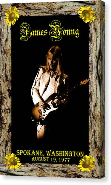 Canvas Print featuring the photograph Styxart In Frame #1 With Text by Ben Upham